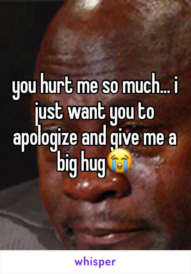 you hurt me so much... i just want you to apologize and give me a big hug😭