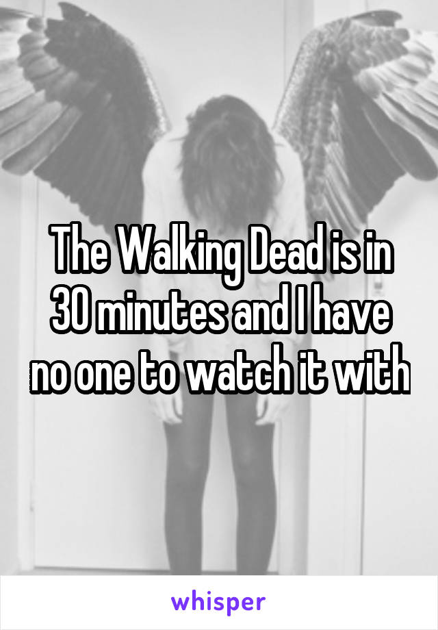 The Walking Dead is in 30 minutes and I have no one to watch it with