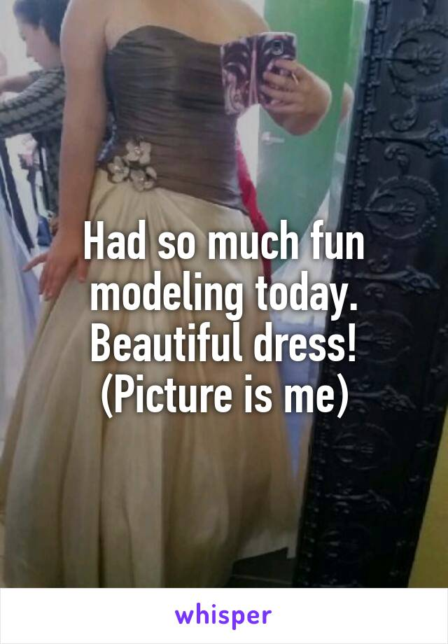 Had so much fun modeling today. Beautiful dress! (Picture is me)