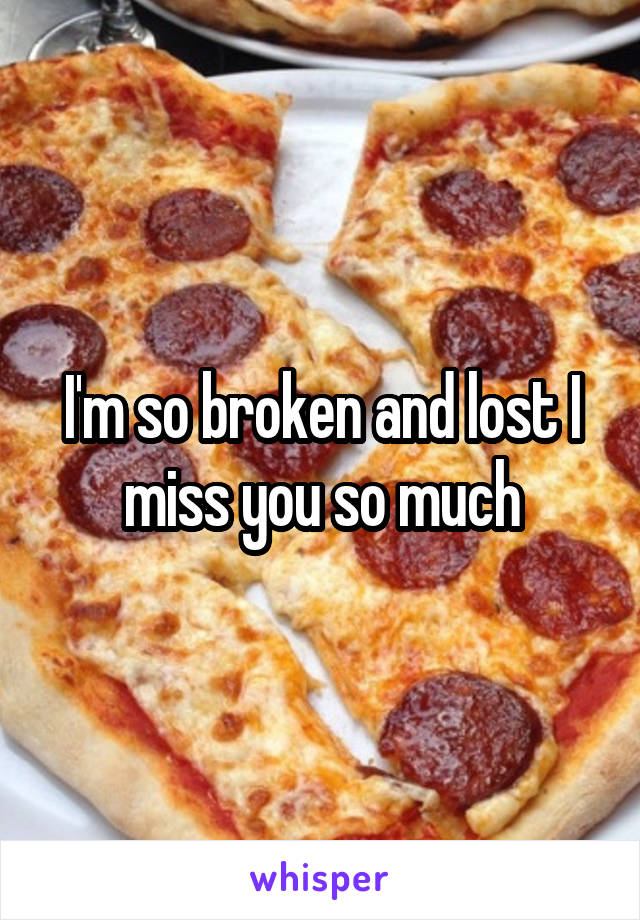 I'm so broken and lost I miss you so much