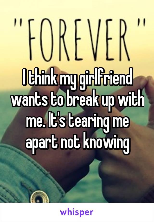 My girlfriend wants a break