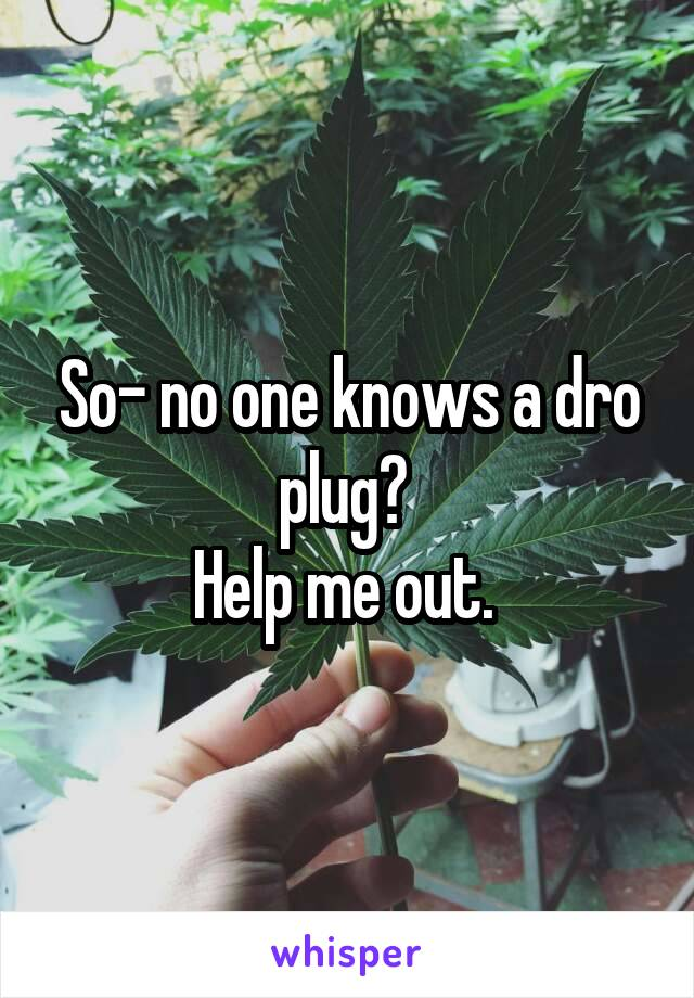 So- no one knows a dro plug?  Help me out.