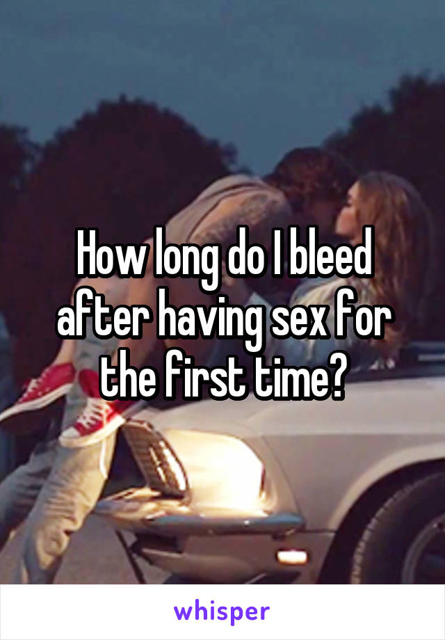 Can suggest bleeding after having sex something