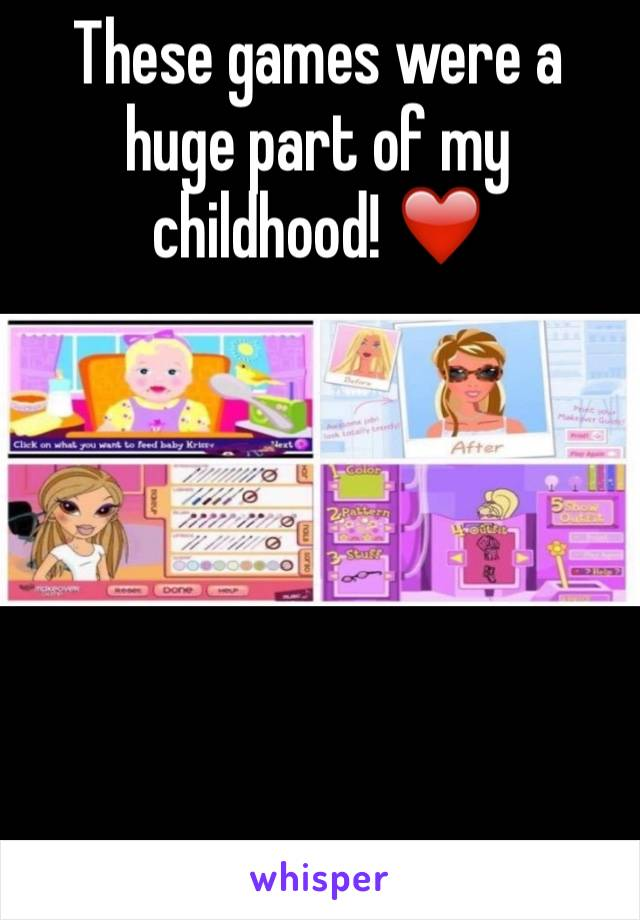 These games were a huge part of my childhood! ❤️