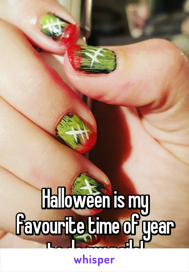 Halloween is my favourite time of year to do my nails!