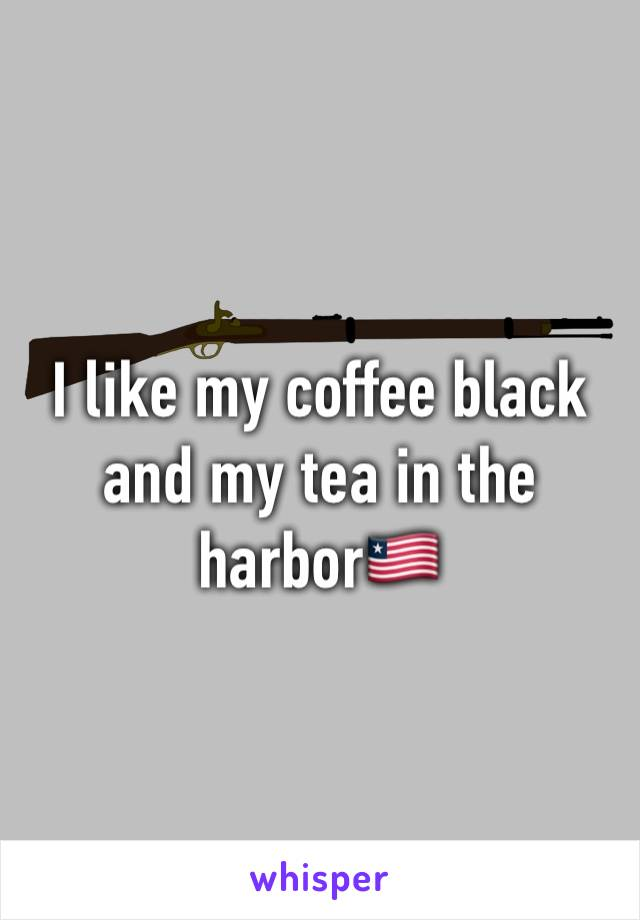 I like my coffee black and my tea in the harbor🇱🇷