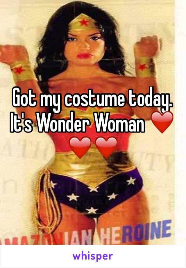 Got my costume today. It's Wonder Woman ❤️❤️❤️