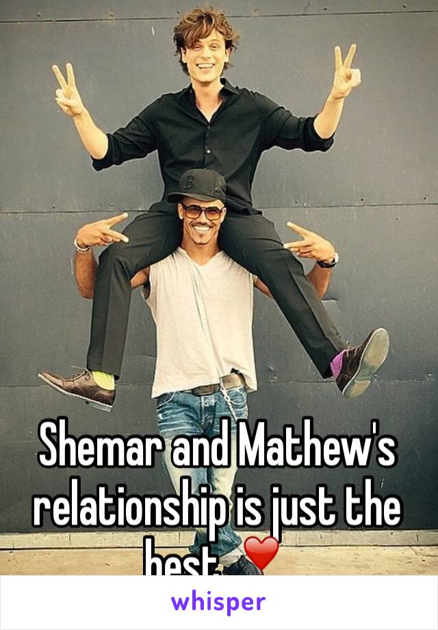 Shemar and Mathew's relationship is just the best ❣️