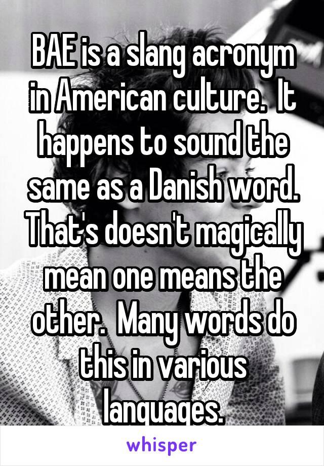 bae acronym slang