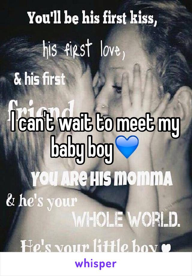 I can't wait to meet my baby boy💙