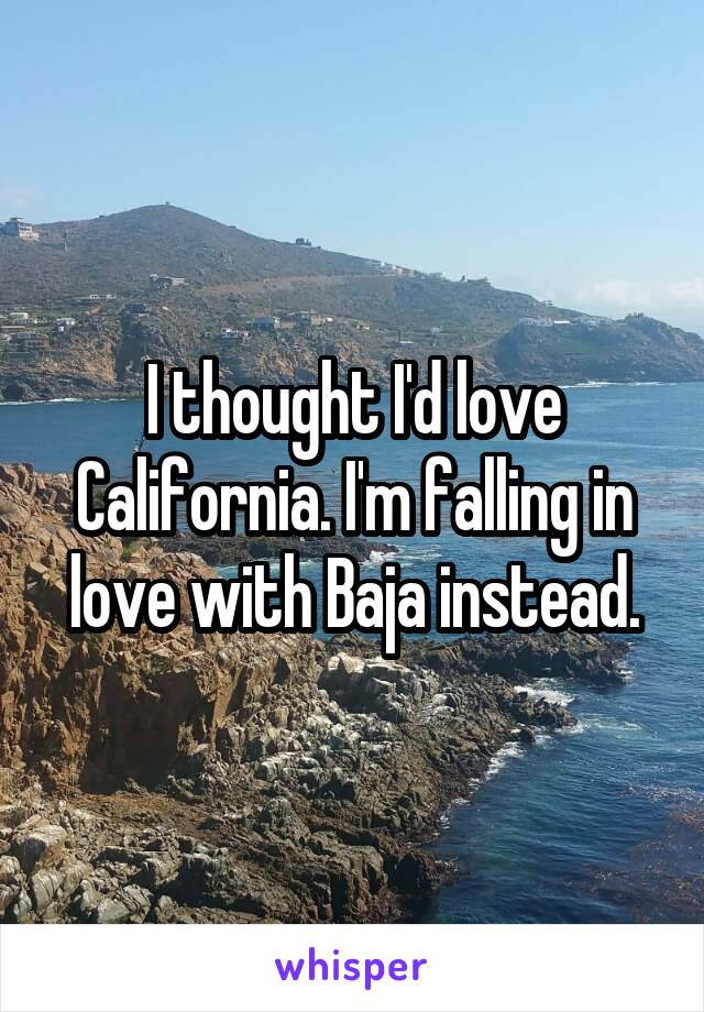 I thought I'd love California. I'm falling in love with Baja instead.