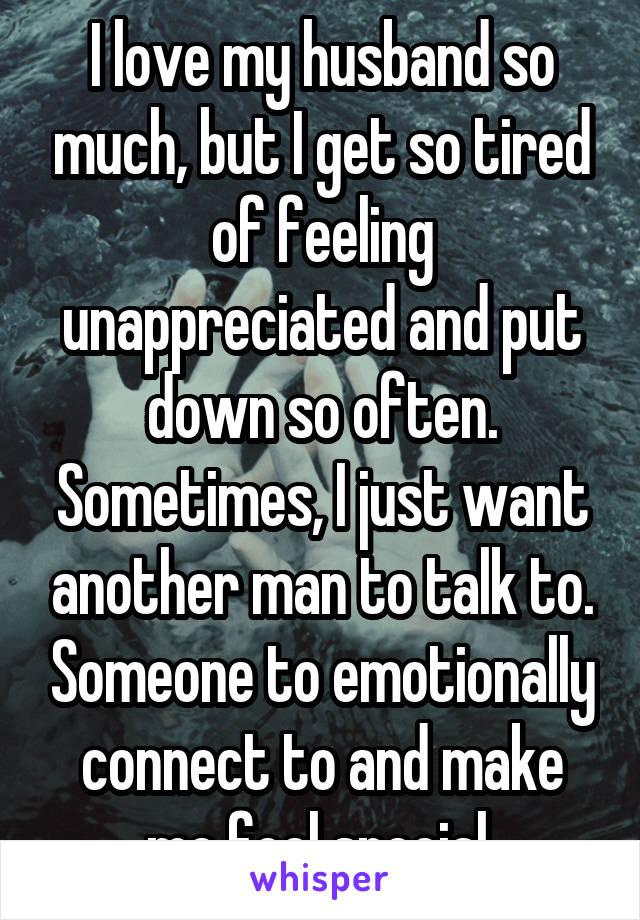 Husband feels unappreciated