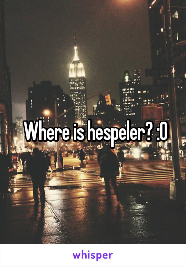 Where is hespeler? :O