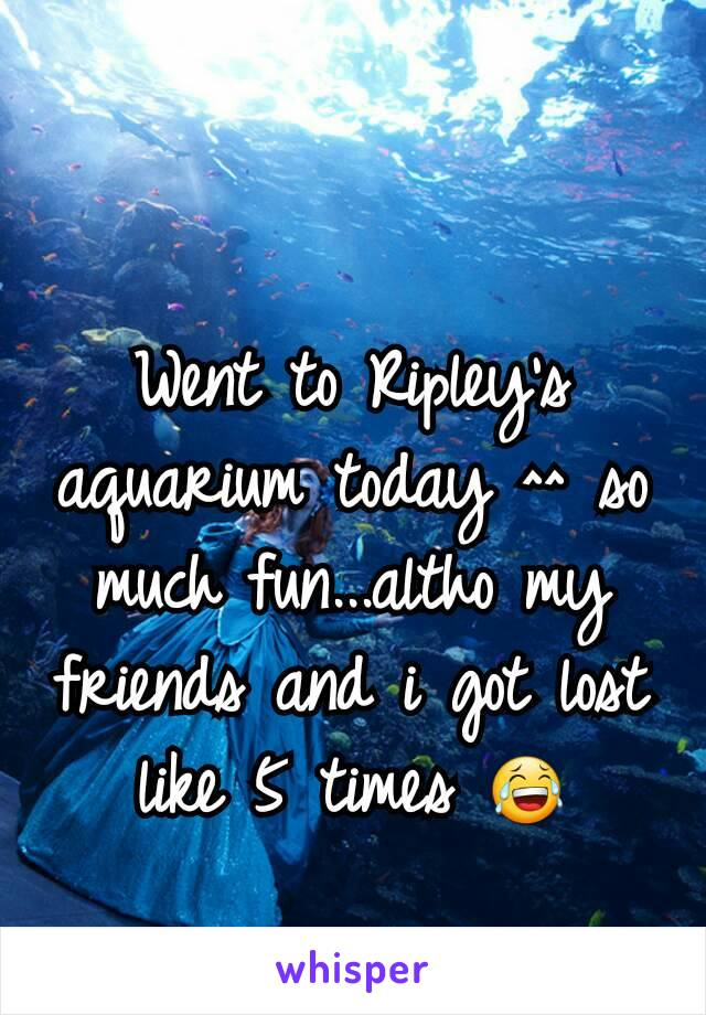 Went to Ripley's aquarium today ^^ so much fun...altho my friends and i got lost like 5 times 😂