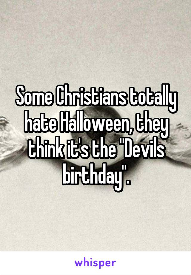 Is halloween the devils birthday