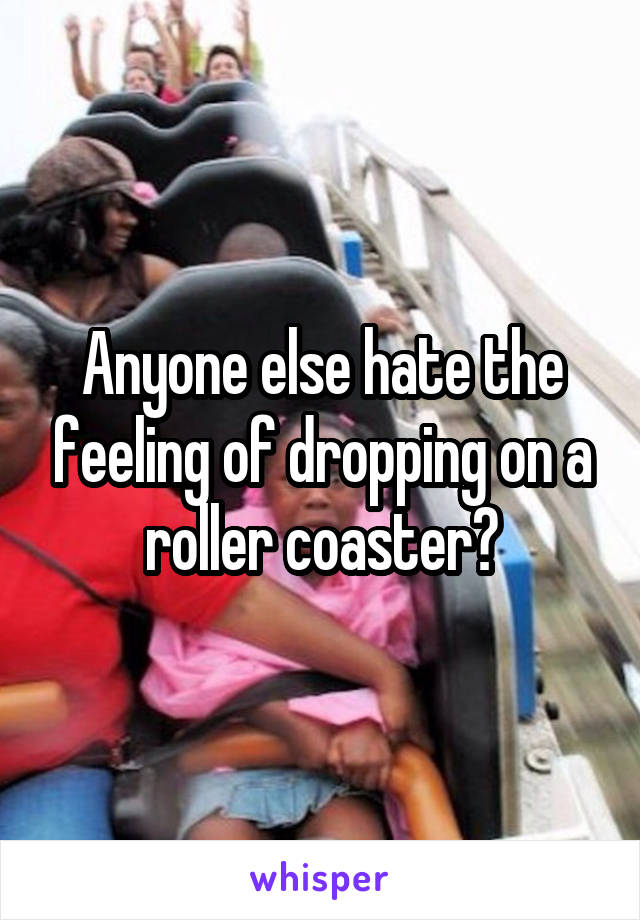 Anyone else hate the feeling of dropping on a roller coaster?