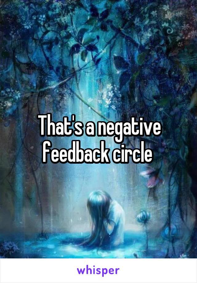 That's a negative feedback circle