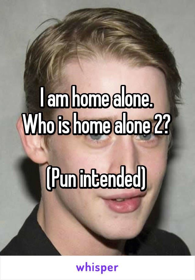 I am home alone.  Who is home alone 2?   (Pun intended)