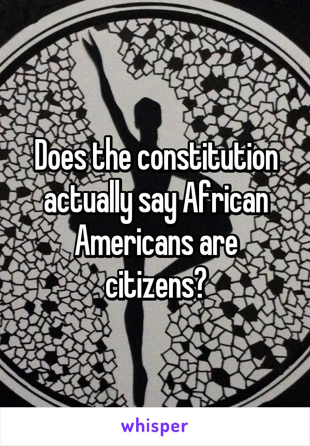 Does the constitution actually say African Americans are citizens?