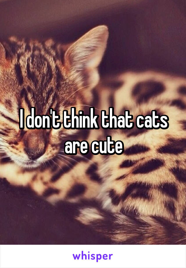 I don't think that cats are cute