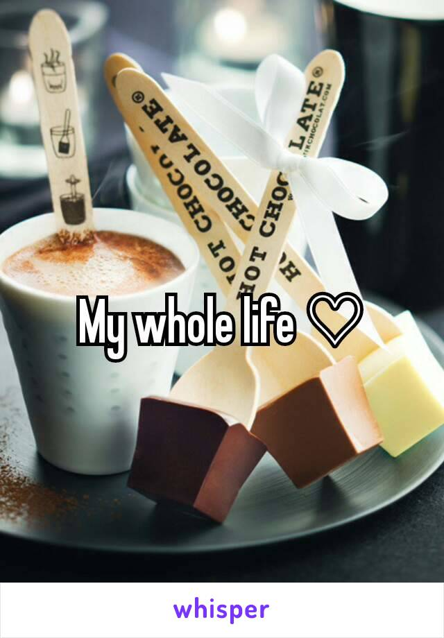 My whole life ♡