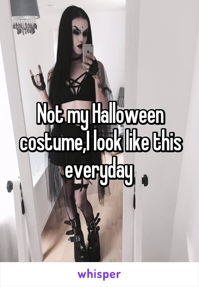 Not my Halloween costume,I look like this everyday