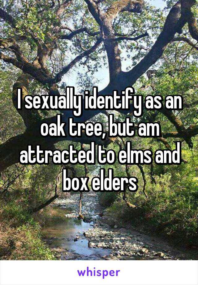 Is it normal to be sexually attracted to trees
