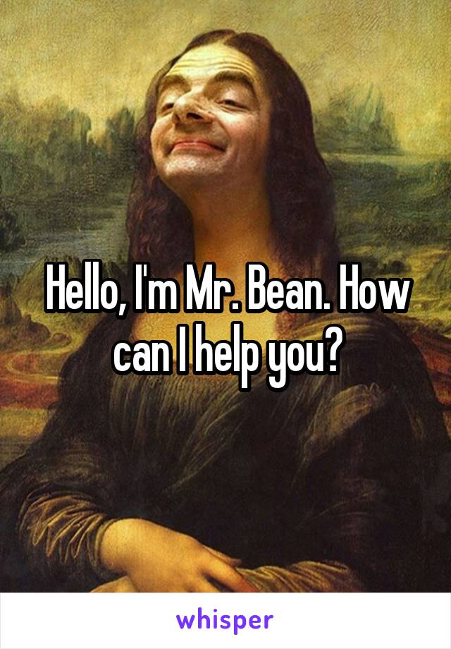 Hello, I'm Mr. Bean. How can I help you?