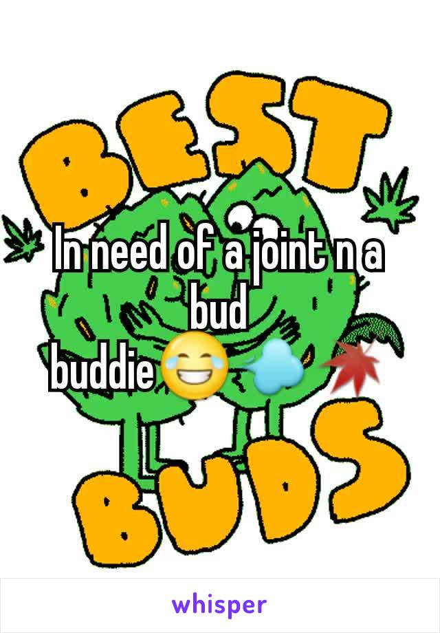 In need of a joint n a bud buddie😂💨🍁