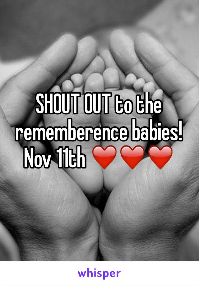 SHOUT OUT to the rememberence babies! Nov 11th ❤️❤️❤️