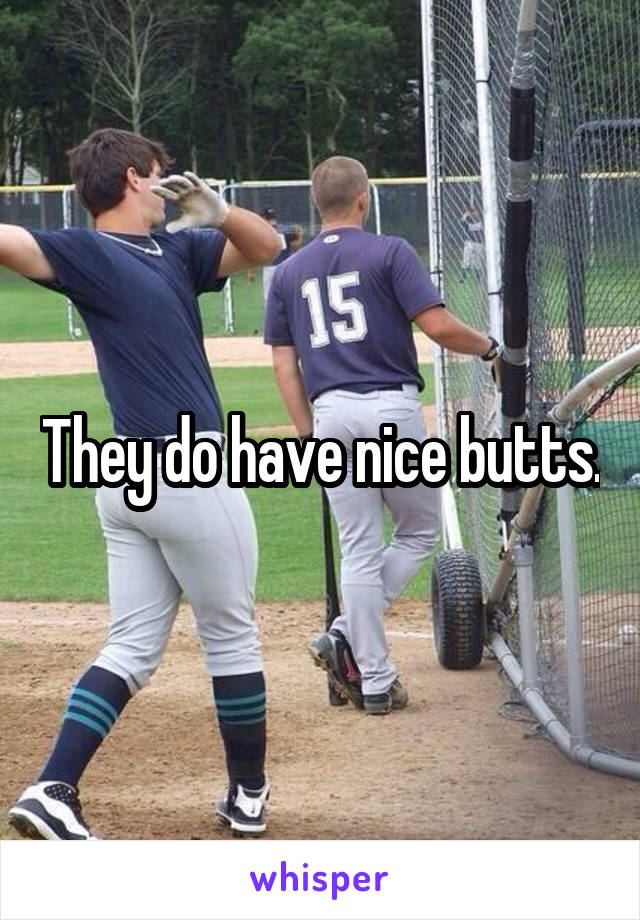 They do have nice butts.
