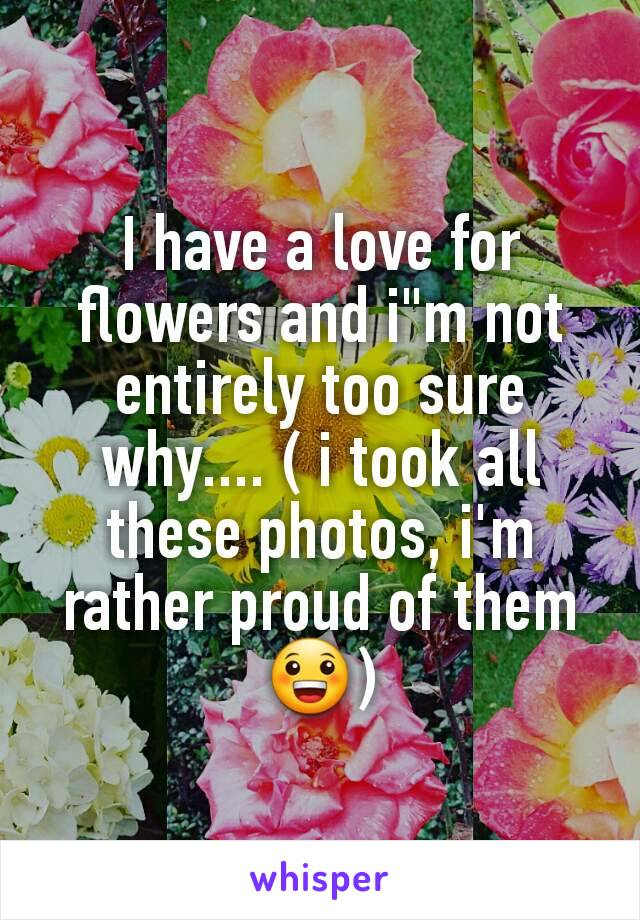 """I have a love for flowers and i""""m not entirely too sure why.... ( i took all these photos, i'm rather proud of them 😀)"""
