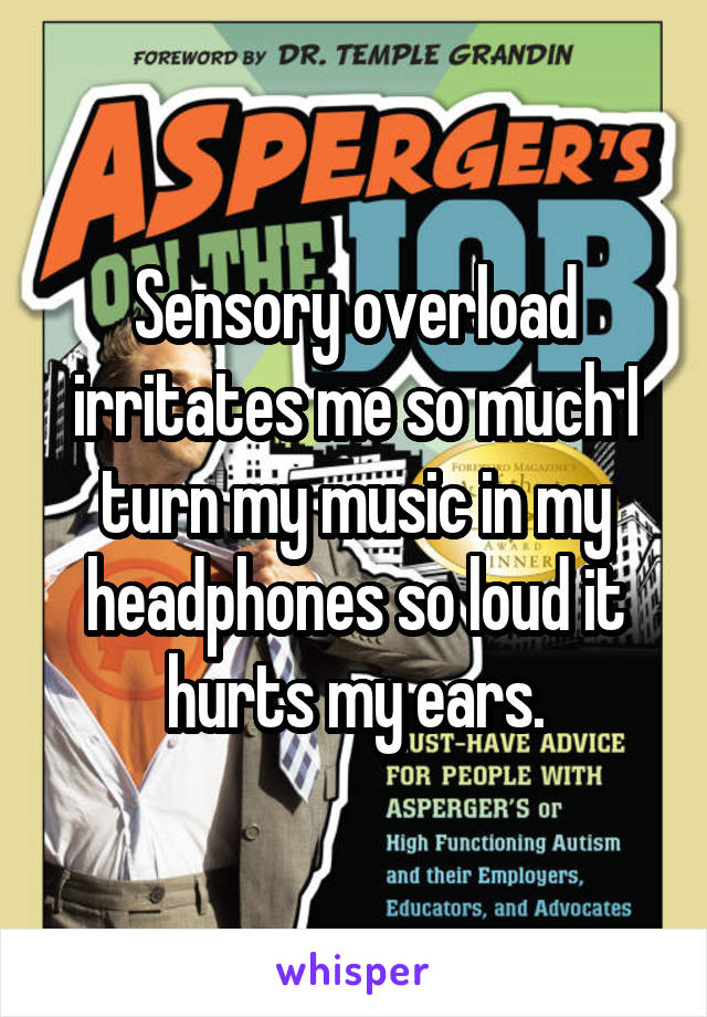 Sensory overload irritates me so much I turn my music in my headphones so loud it hurts my ears.