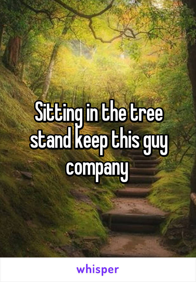 Sitting in the tree stand keep this guy company