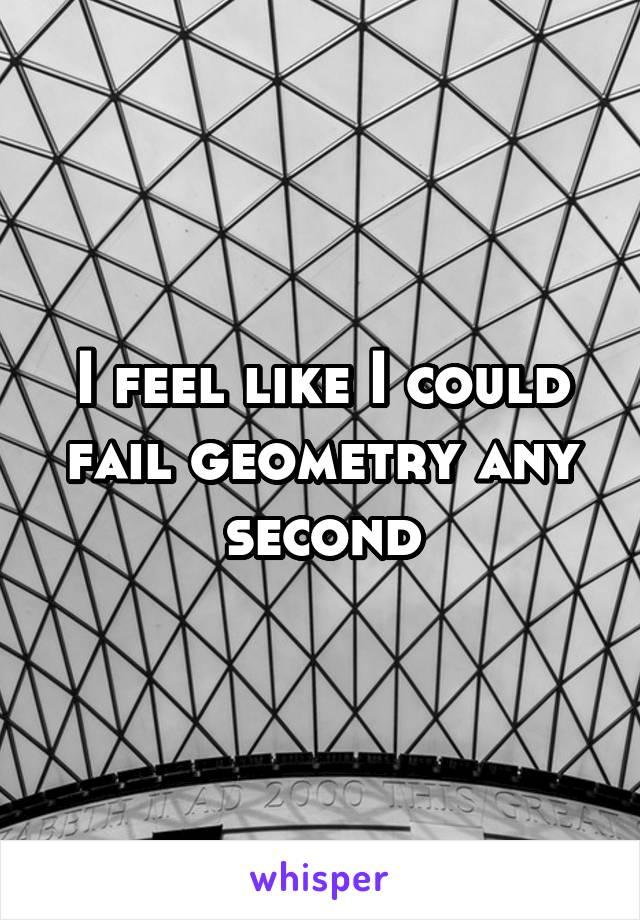 I feel like I could fail geometry any second