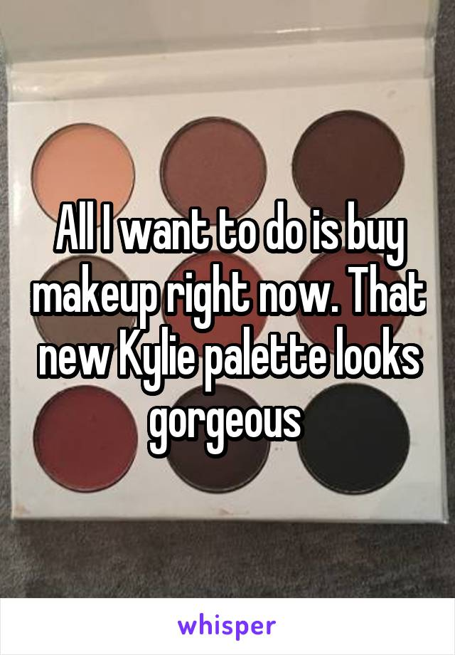 All I want to do is buy makeup right now. That new Kylie palette looks gorgeous