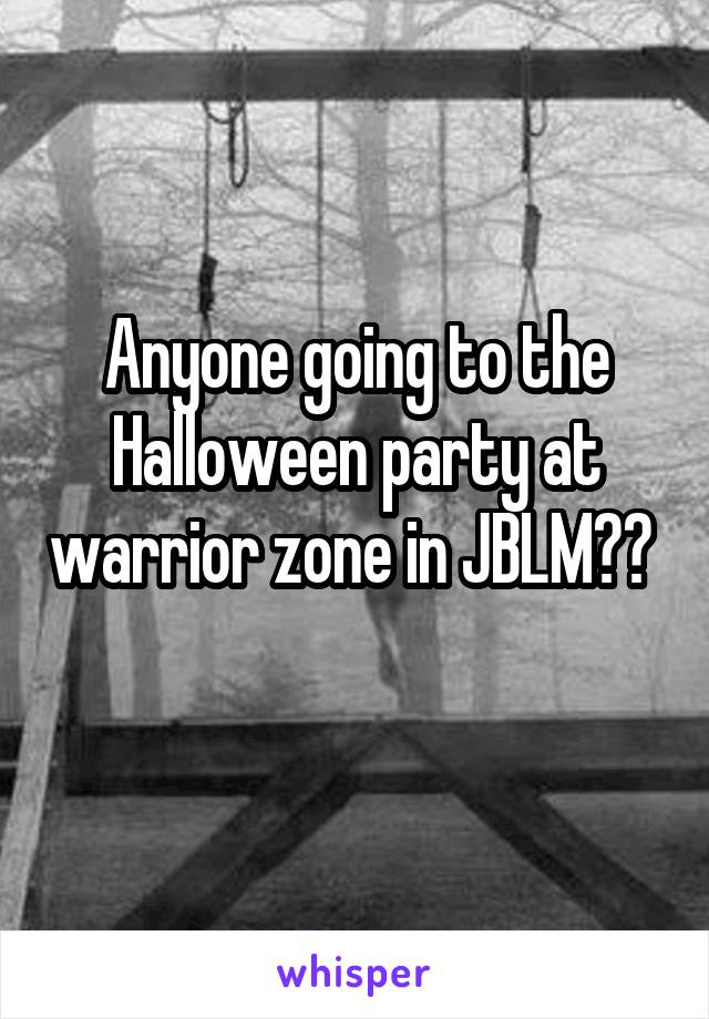 Anyone going to the Halloween party at warrior zone in JBLM??