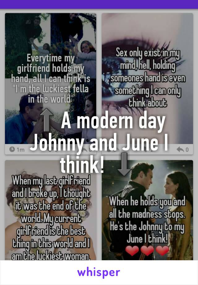 ⬆A modern day Johnny and June I think! ⬇