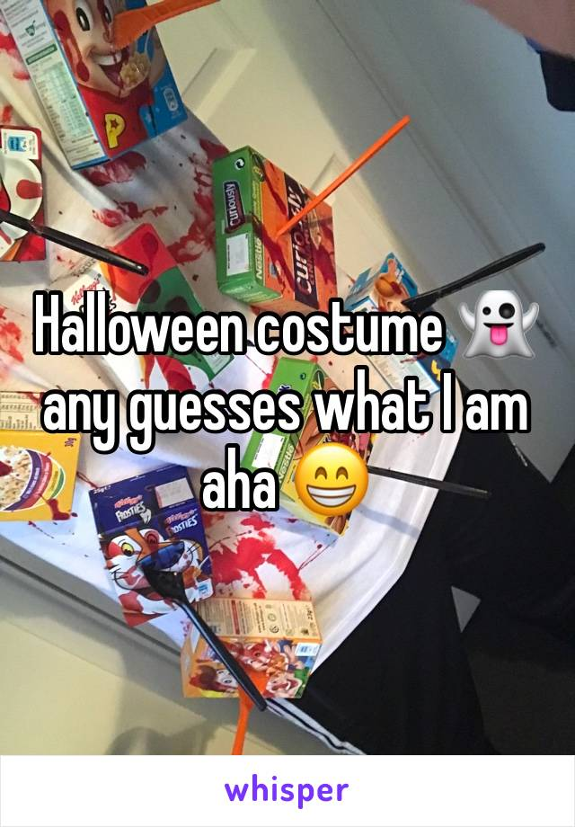 Halloween costume 👻 any guesses what I am aha 😁