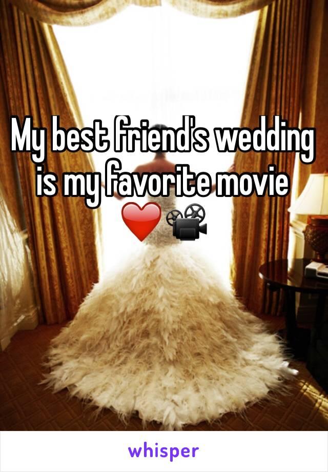 My best friend's wedding is my favorite movie ❤️📽