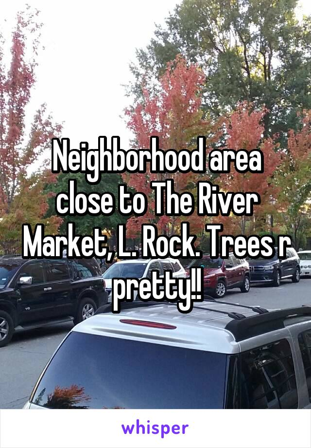 Neighborhood area close to The River Market, L. Rock. Trees r pretty!!