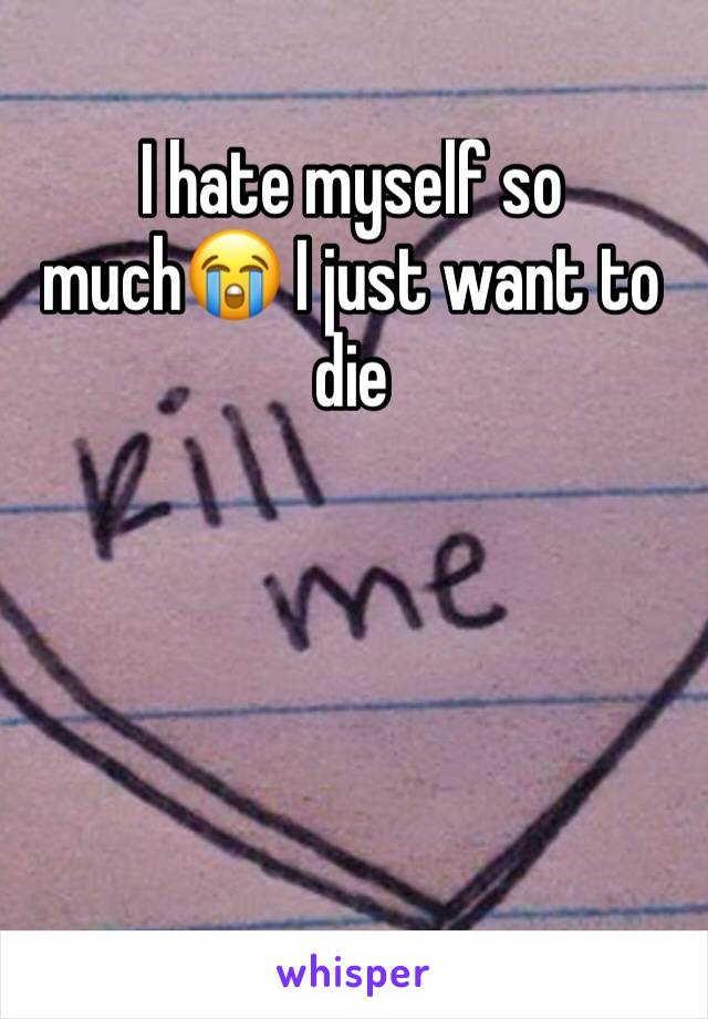I hate myself so much😭 I just want to die