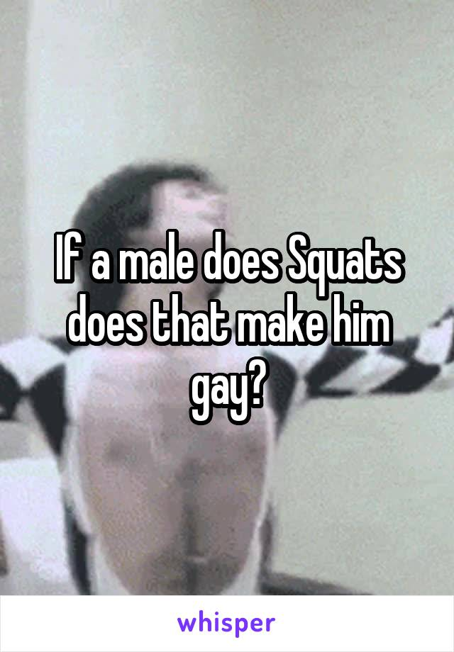 If a male does Squats does that make him gay?