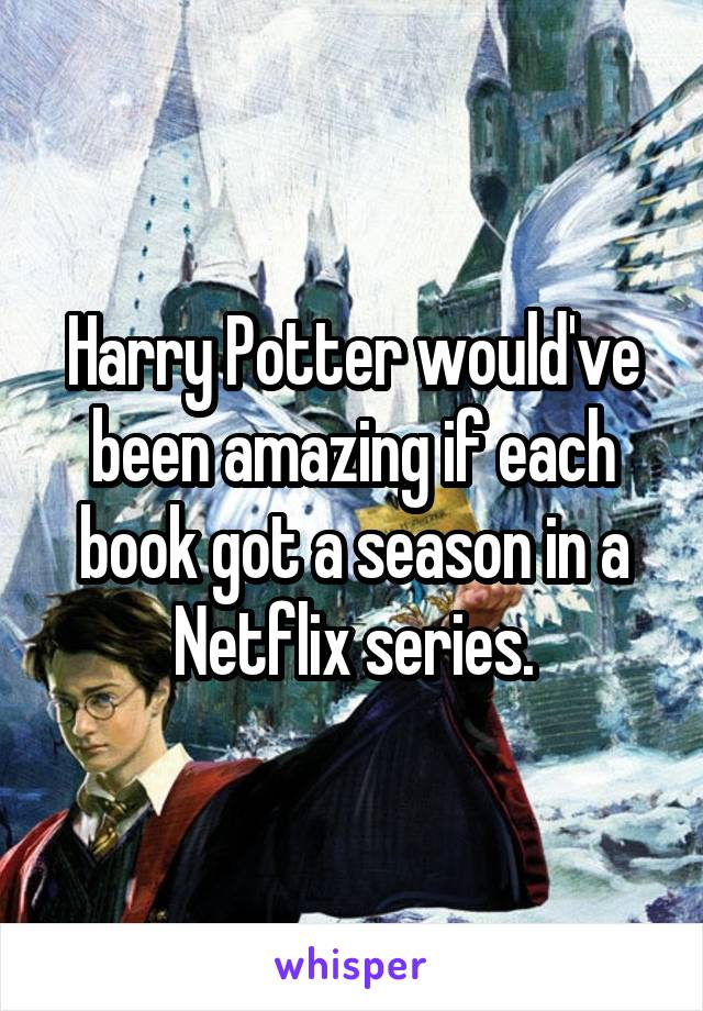Harry Potter would've been amazing if each book got a season in a Netflix series.
