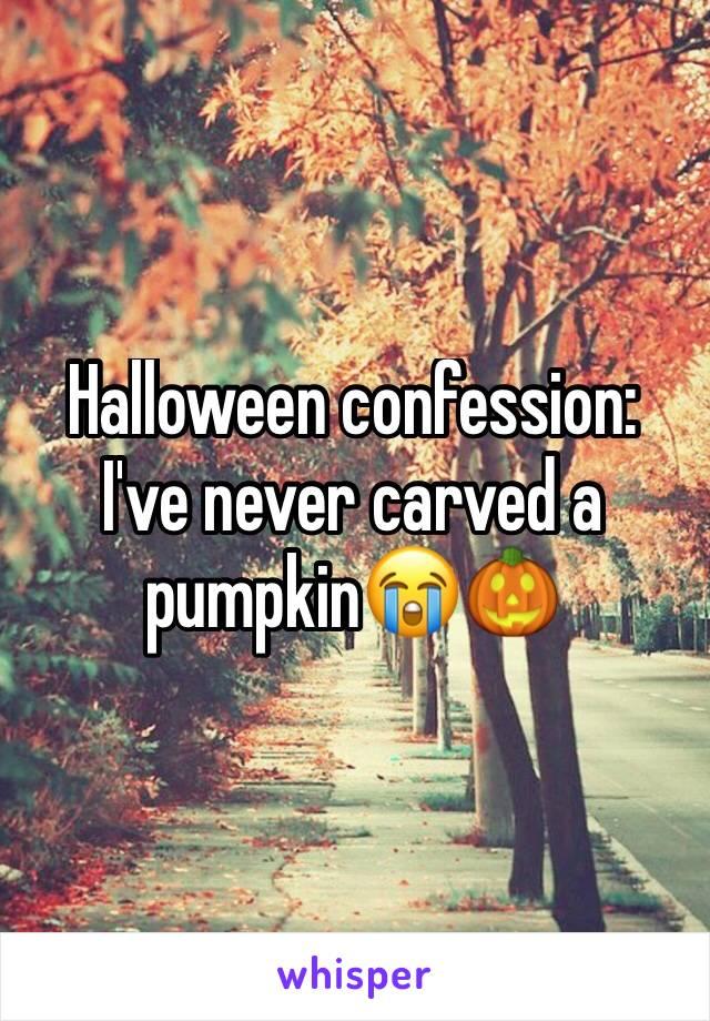 Halloween confession: I've never carved a pumpkin😭🎃