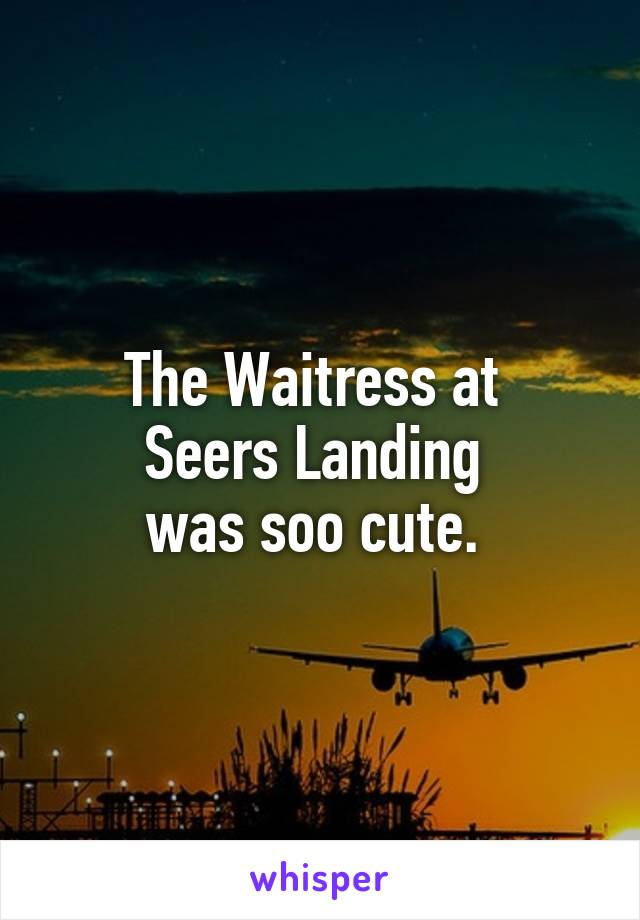 The Waitress at  Seers Landing  was soo cute.