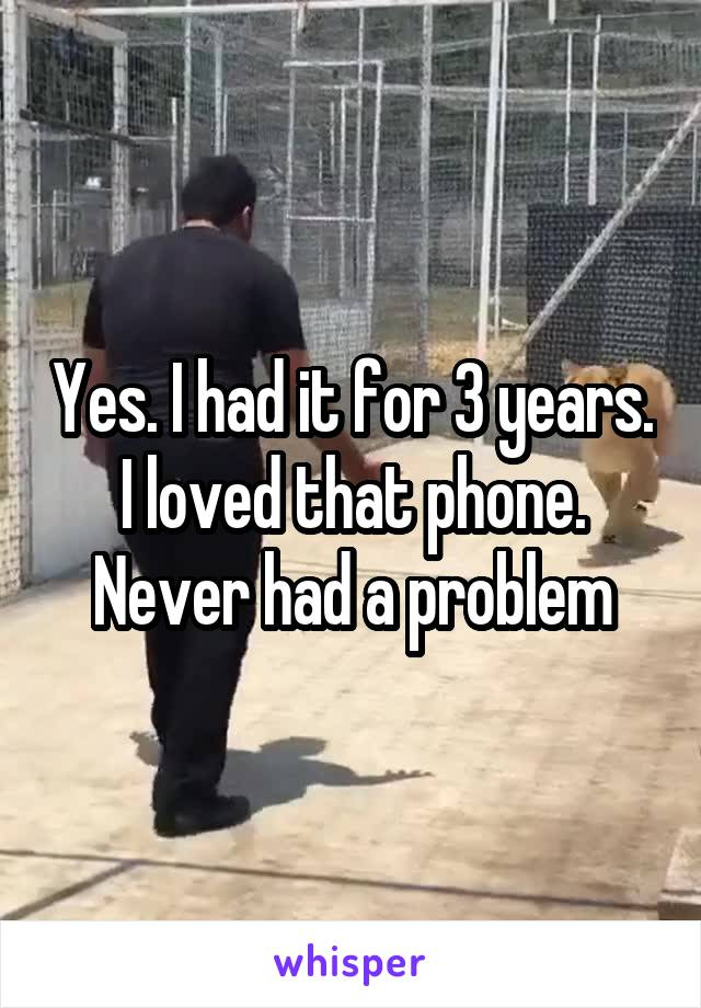 Yes. I had it for 3 years. I loved that phone. Never had a problem