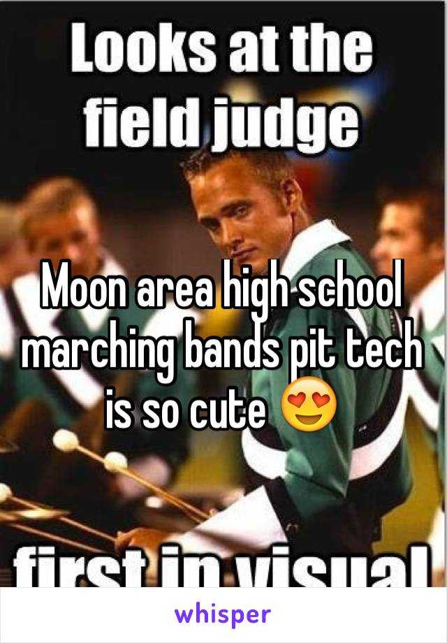Moon area high school marching bands pit tech is so cute 😍