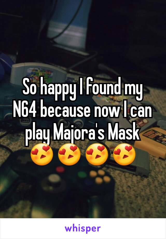 So happy I found my N64 because now I can play Majora's Mask 😍😍😍😍
