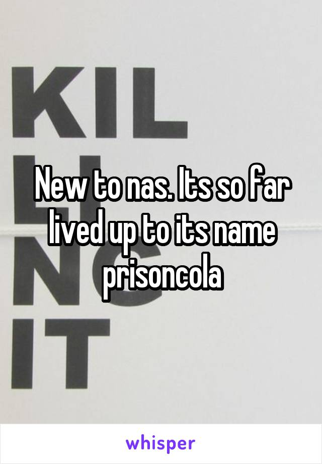 New to nas. Its so far lived up to its name prisoncola